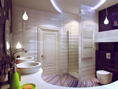 Badkamer Met Niveaus : Stretch plafond in de badkamer wat beter is. en uiteindelijk is het